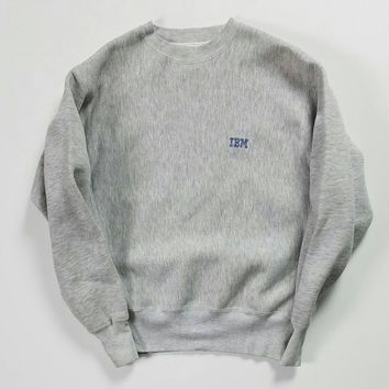 IBM Crewneck Sweatshirt Size XL, 90s Computer Software Sweater