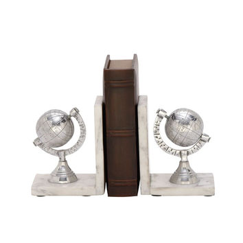 Enthralling Aluminum Marble Bookend Pair