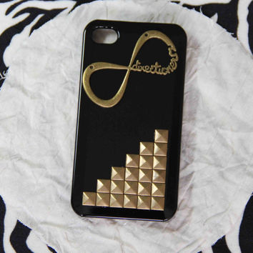 bronze punk style rivet one direction iPhone 5 case iphone 4 4s case 1D directioner phone case friendship love gifts trending