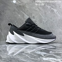 DCCK2 A1131 Adidas Sharks Concept 2019 Fashion Casual Running Shoes Gray Black