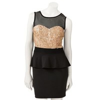 Speechless Sequin Peplum Dress