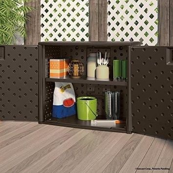 Outdoor Elements Cabinet Wide Inch Deck Box Storage Patio Wicker And Bundle New