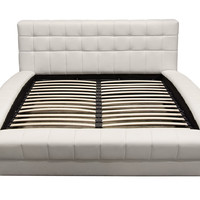 Queen Bonded Leather Tufted Bed