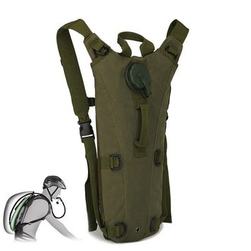 Outdoor Camping Hiking Cycling 3L Water Bag Molle Military Tactical Hydration Backpack Camelback Nylon Camel Water Bladder Bag