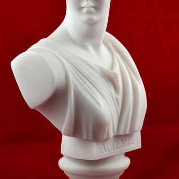 artemis diana bust greek statue nature moon goddess NEW