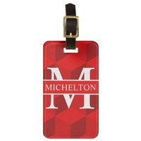 Qubed Red Personalized Luggage Tag