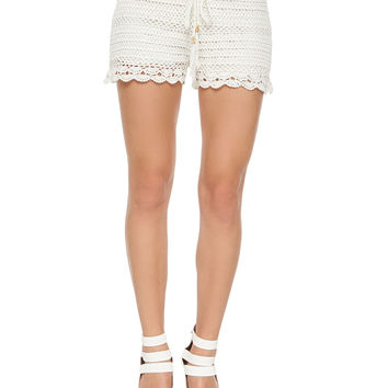Women's Maera Hand-Crocheted Shorts - Joie - Porcelain