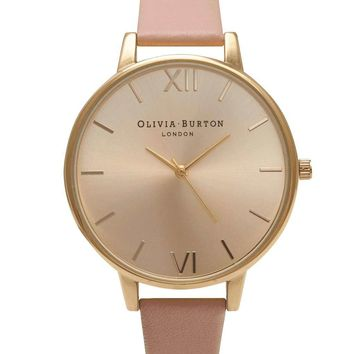 **Olivia Burton Dusty Pink & Gold Big Dial OB14BD31 Watch - Topshop