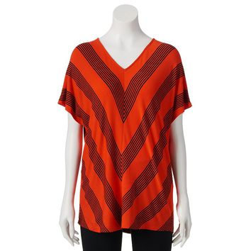 Dana Buchman Striped Dolman Top - Women's, Size: