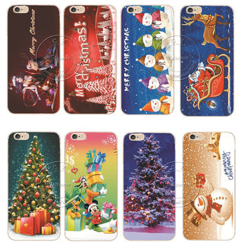 New Arrival Fashion Christmas New Year Gifts Christmas Tree Snowman Hard Protective Back Cover Case For Apple iPhone 6 6S