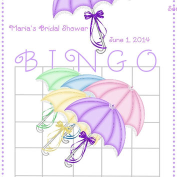Bridal Umbrella Bingo Cards