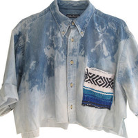 Mexican Distressed Jean Shirt