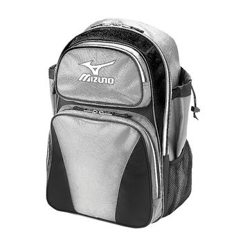 Mizuno Organizer G3 Bat Pack Backpack Silver Black - 360161