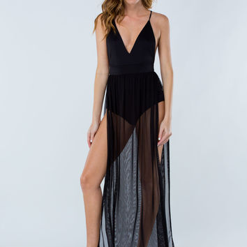 Goddess Bodysuit Maxi Dress GoJane.com