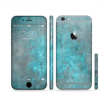 The Grungy Bright Teal Surface Sectioned Skin Series for the Apple iPhone 6s Plus