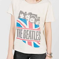 Beatles British Flag Tee- Ivory