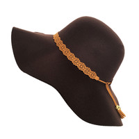 Perfect Fit Wool Floppy Hat in Dark Brown