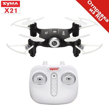 Syma X21 Drone RC Quadcopter 2.4G 4CH 6-aixs Gyro Mini Dron Aircraft Without Camera Remote Control Helicopter Children Toys