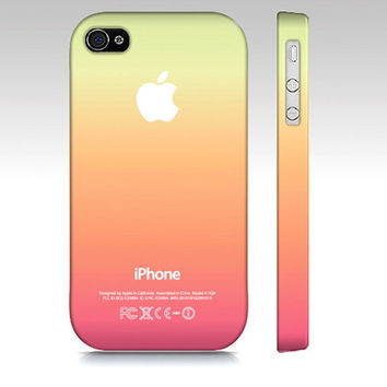 Cool Summer Colors Ombre  - Premium Slim Fit Iphone 4 or 4s Case