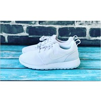 """NIKE"" Roshe One Full White Women Casual Sport Shoes Sneakers"