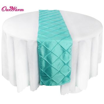 exquisite Satin Pintuck Table Runner Wedding Party Banquet Decoration elegant Tablecloth 30 x 275cm