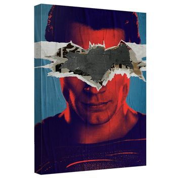 Batman V Superman - Superman Ripped Poster Canvas Wall Art With Back Board