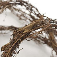 Grapevine Twig Garland PRIMITIVE 15 Foot Dried Natural PRIM Country Decor Florist Quality Wedding Home Christmas Halloween Fall Mantle Door