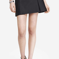 A-LINE (MINUS THE) LEATHER PLEATED MINI SKIRT from EXPRESS
