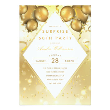 Surprise Party   Glam Gold Balloons & Confetti