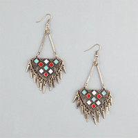 Full Tilt Tribal Spikes A-Wire Earrings Gold One Size For Women 23448062101