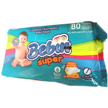 BABY WIPES BEBIN SUPER 18/80