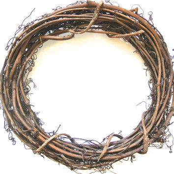 "2 Grapevine Wreaths- 12"" Wreaths, Outdoor Decor, DIY Ornament, Rustic Wedding, Natural Wreaths"