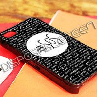 5SOS Quote Black Design - iPhone 4/4s/5/5s/5c Case - Samsung Galaxy S2/S3/S4 Case - Black or White