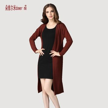 Women Long Slit side Cardigan Sweater