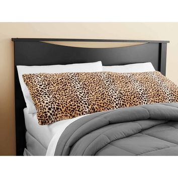 Mainstays Cheetah Fur Body Pillow Cover Other