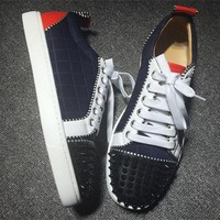 Cl Christian Louboutin Low Style #2044 Sneakers Fashion Shoes