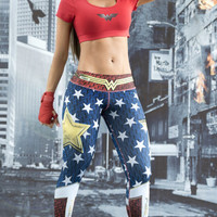 Fiber Activewear Leggings Limited Edition Wonder Woman