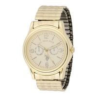 U.S. Polo Assn. Classic Men's USC80011 Round Analogue Gold Dial Expansion Watch