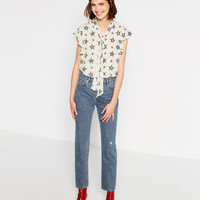 STAR PRINTED BLOUSE DETAILS
