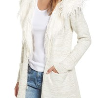 Show Me Your Mumu Roadie Faux Fur Trim Cardigan | Nordstrom