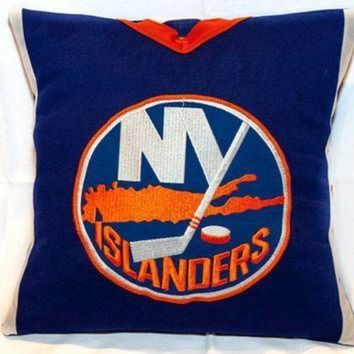 CREYON NHL Hockey Jersey Throw Pillow for Mancave, Hockey-Mom Van, One-of-a-Kind!! Genuine Ho