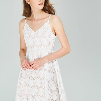 Cupshe White Snow Lace Dress