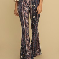 Bael Paisley Floral Print Flares | Threadsence