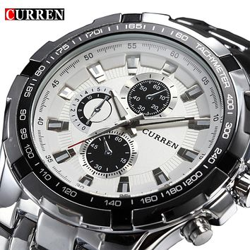 NEW: 2017 Brand Luxury full stainless steel Watch Men Business