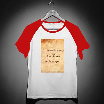I solemnly harry potter - Short Sleeve Raglan - White Red - White Blue - White Black XS, S, M, L, XL, AND 2XL *02*