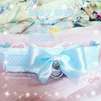 Baby Blue Polkadot Lace Collar [Ready to Ship]