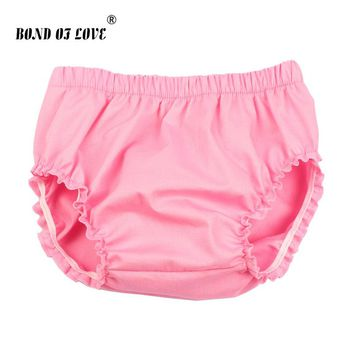 New Fashion Solid Baby Shorts Baby Girl Ruffle Bloomers Diaper Cover Newborn Photography Props Toddler Bloomers YC048