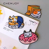 Sushi Cat Embroidered Patch Ironing Fun Sew on Appliques Kids Clothing Cartoon Stickers Shoes Backpack Sticker Badges Patches