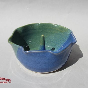 Apple Baker - Ceramic, Blue and Green