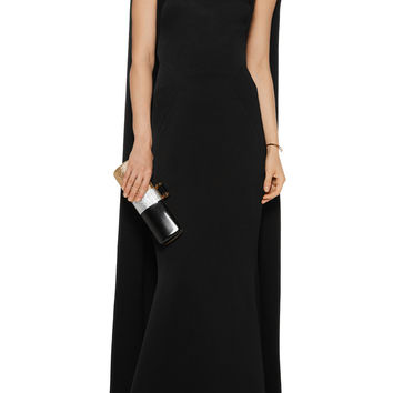 Cape-effect crepe gown | Zac Posen | US | THE OUTNET